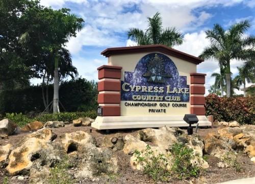 Cypress Lake Entrance