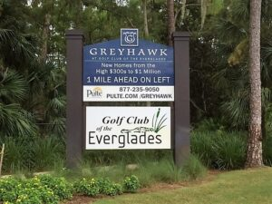 New Construction in Golf Club of The Everglades
