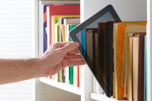 books and ebook reader